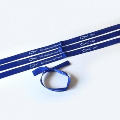 Bracelet satin bleu
