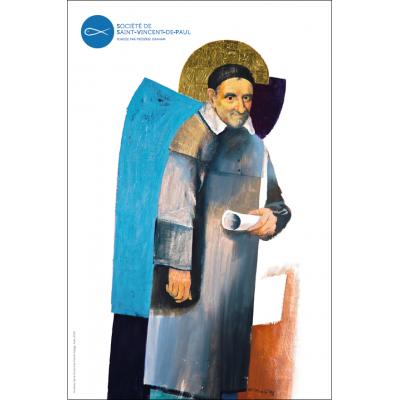 Affiche Saint Vincent de Paul par Arcabas